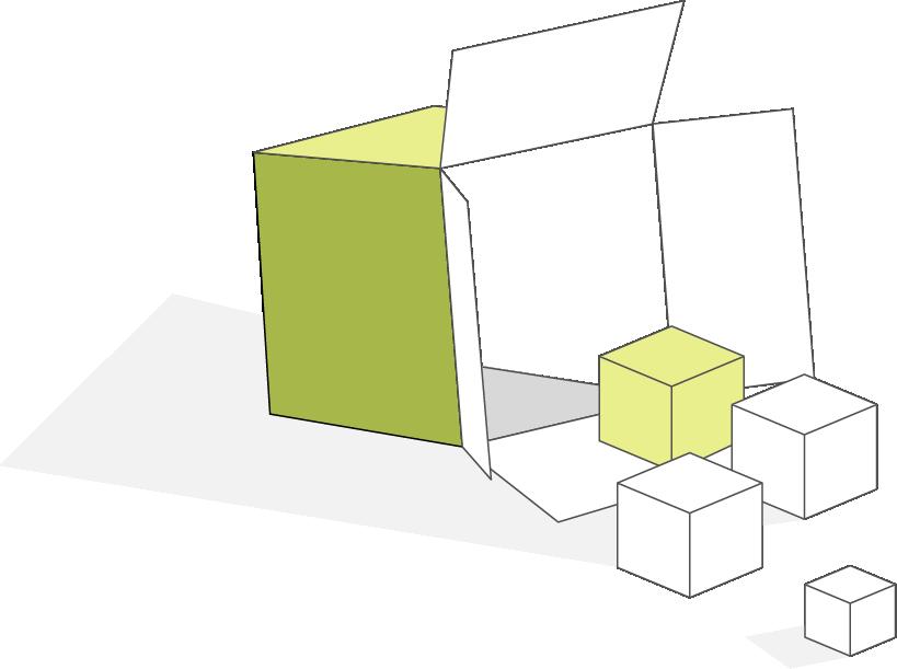 box spilling cubes