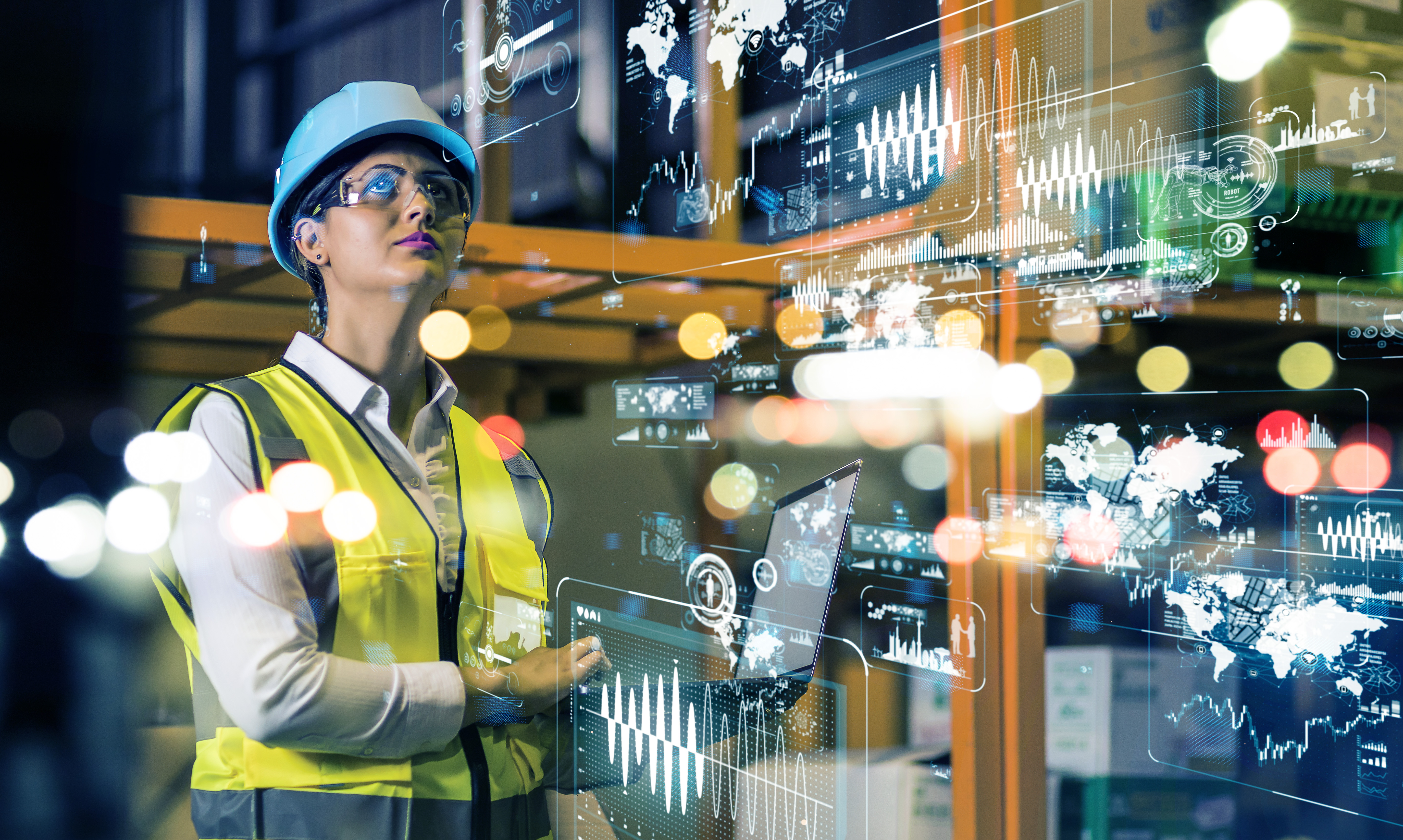 Woman looking at complicated logistics