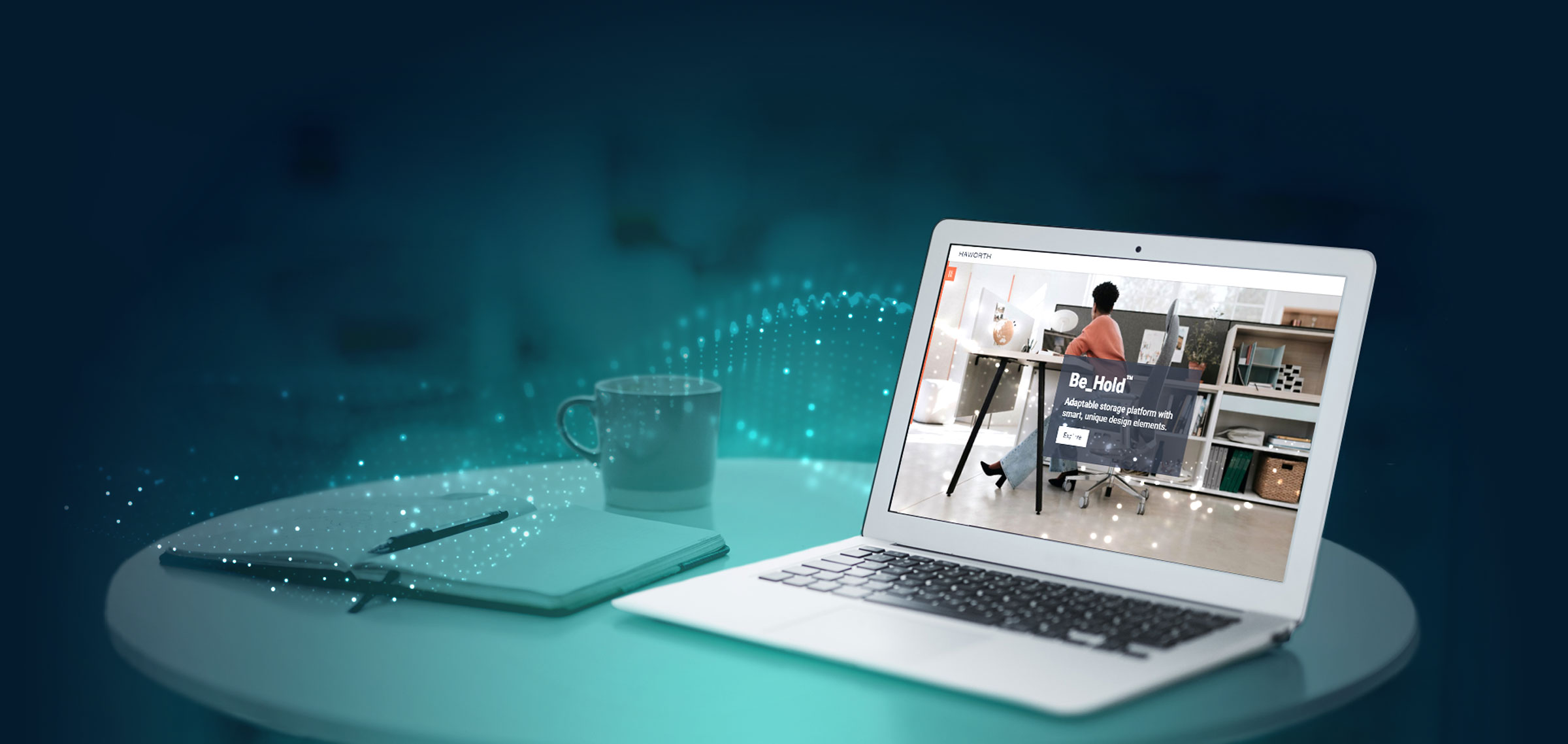 elearning background with example in laptop